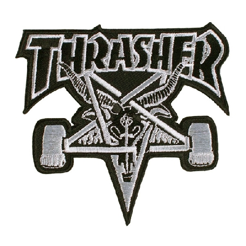 THRASHER PATCH SK8 GOAT black silver
