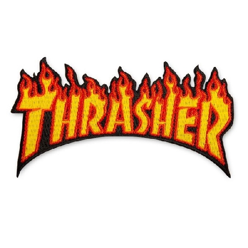 THRASHER PATCH FLAME 11.5cm x 6cm