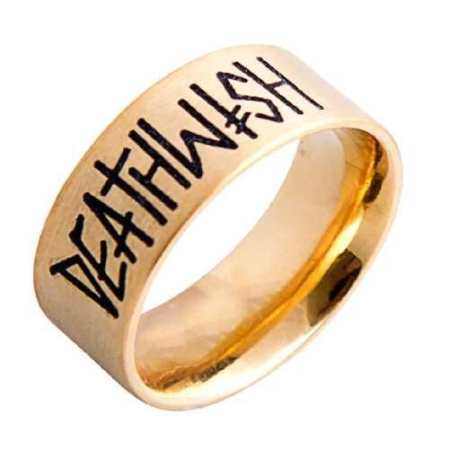 DEATHWISH DEATHSPRAY RING gold