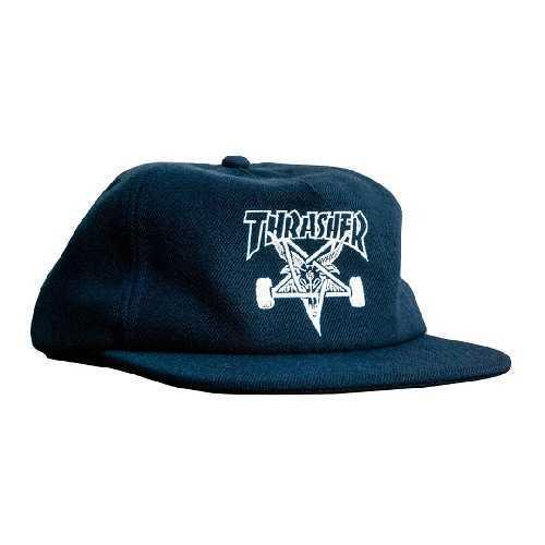 THRASHER SKATE GOAT WOOL BLEND SNAPBACK CAP navy