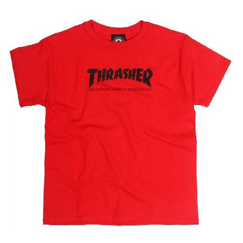 THRASHER SKATE MAG YOUTH TEE red