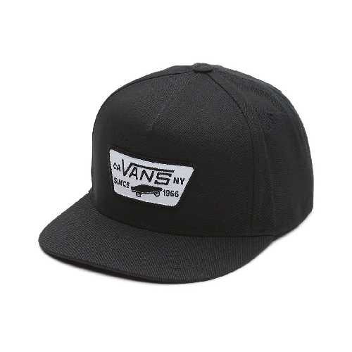 VANS FULL PATCH SNAPBACK CAP true black