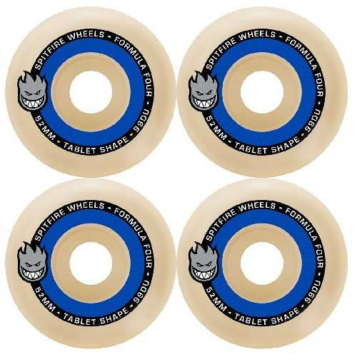 SPITFIRE FORMULA FOUR TABLET NATURAL WHEELS 99D 52mm