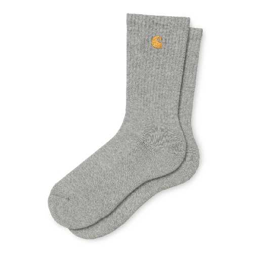 CARHARTT WIP CHASE SOCKS Grey Heather/Gold
