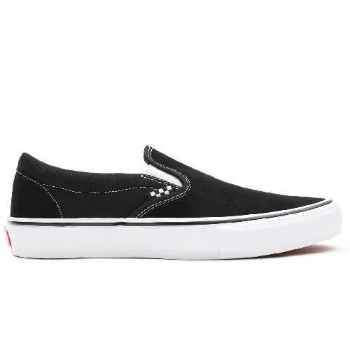 VANS SLIP ON PRO SKATE black white