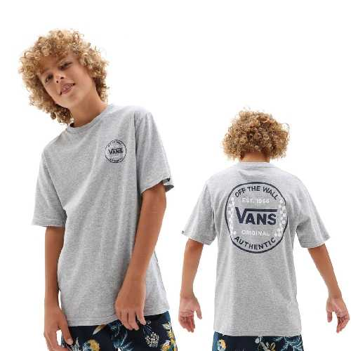 VANS AUTHENTIC CHECKER SS BOYS TEE athletic heather