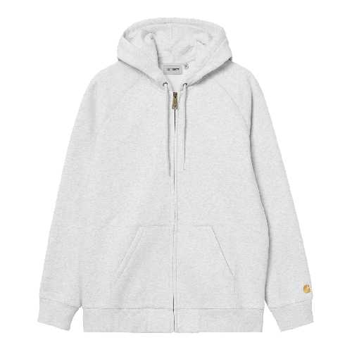 CARHARTT WIP HOODED CHASE JACKET Ash Heather / Gold
