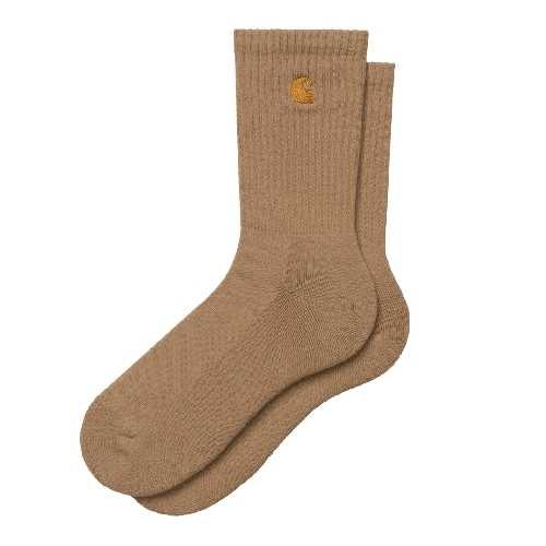 CARHARTT WIP CHASE SOCKS Dusty H Brown/Gold