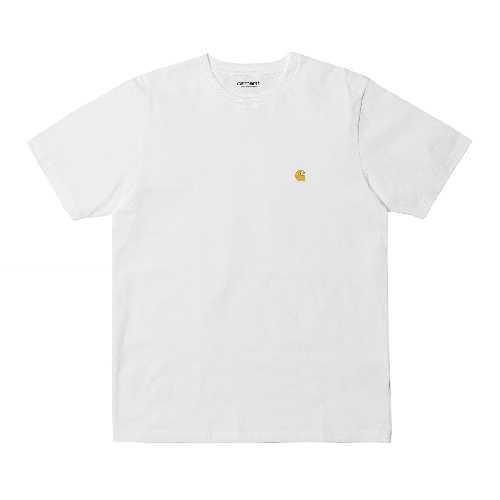 CARHARTT WIP CHASE TSHIRT white / Gold