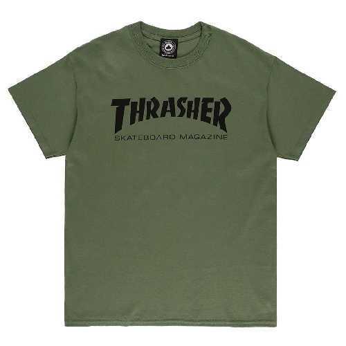 THRASHER SKATE MAG TEE army