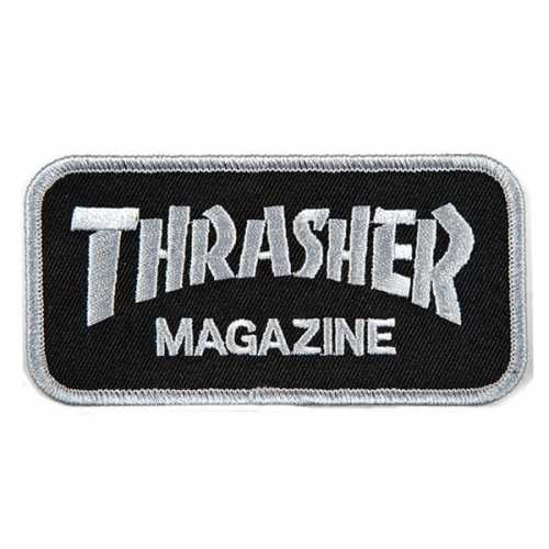 THRASHER PATCH LOGO grey...