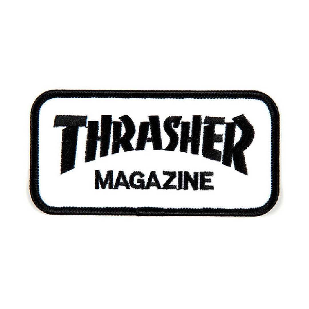 THRASHER PATCH LOGO black white 10.5cm x 5cm