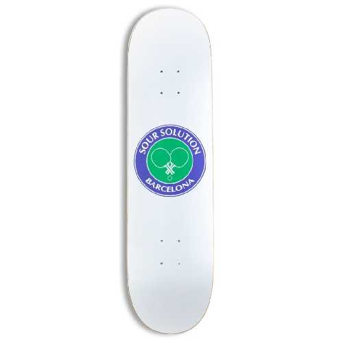 SOUR SOLUTION SOCIAL CLUB WHITE TEAM DECK 8.25 x 31.85