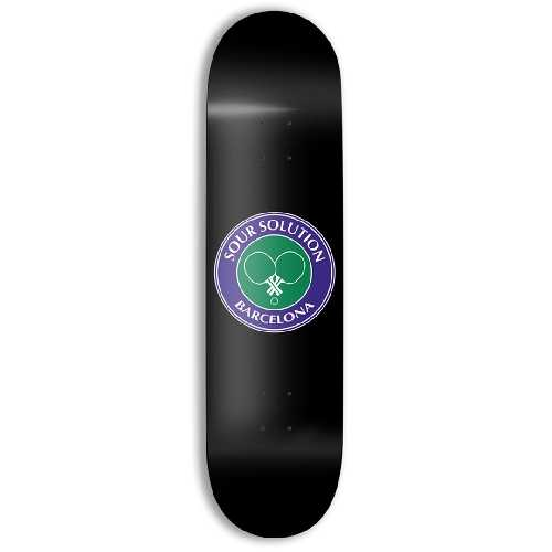 SOUR SOLUTION SOCIAL CLUB BLACK TEAM DECK 8.125 x 31.40