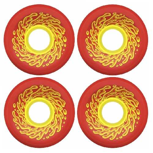 SANTA CRUZ OG SLIME BALLS RED YELLOW WHEELS 78A 60mm