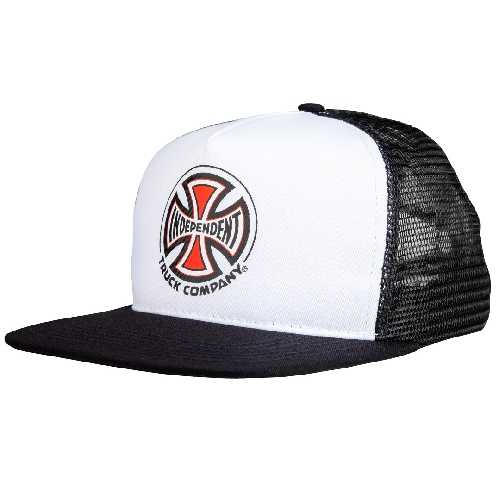 INDEPENDENT TRUCK CO MESH CAP white black