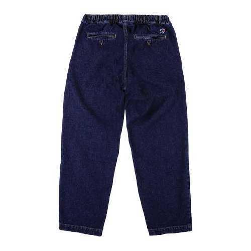 MAGENTA LOOSE PANTS blue denim