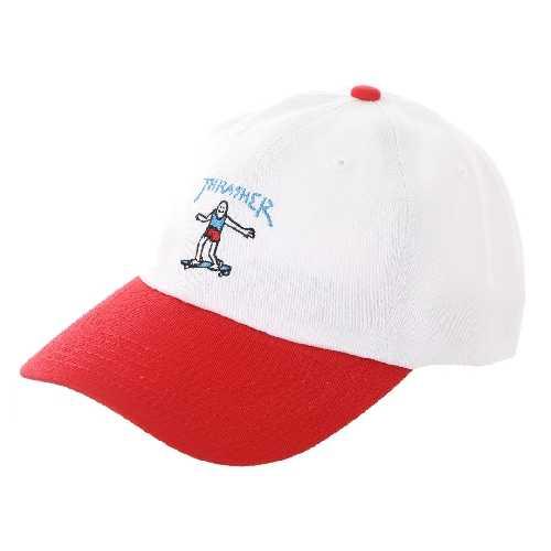 THRASHER GONZ OLD TIMER CAP white red