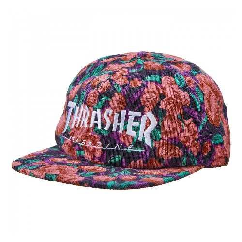 THRASHER MAG LOGO SNAPBACK CAP pink floral