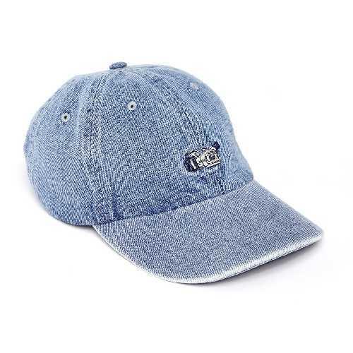 MAGENTA VX DAD HAT CAP denim