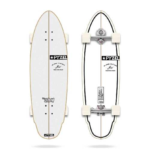 YOW SURF SHADOW X PYZEL SURFING SERIESYOW SURFSKATE 33.5 pouces