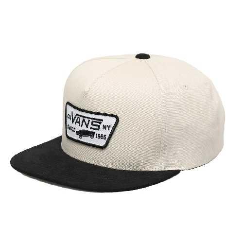 VANS FULL PATCH SNAPBACK CAP oatmeal black
