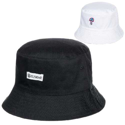 ELEMENT SHROOMS BUCKET HAT flint black