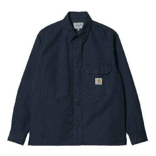 CARHARTT WIP RENO SHIRT JAC Dark Navy garment dyed