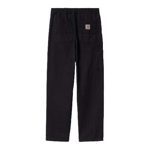 CARHARTT WIP FLINT PANT Black garment dyed