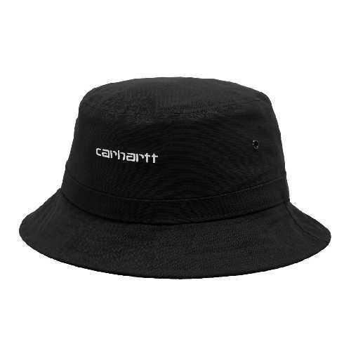 CARHARTT WIP SCRIPT BUCKET HAT Black / White