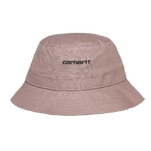 CARHARTT WIP SCRIPT BUCKET HAT Earthy Pink / Black