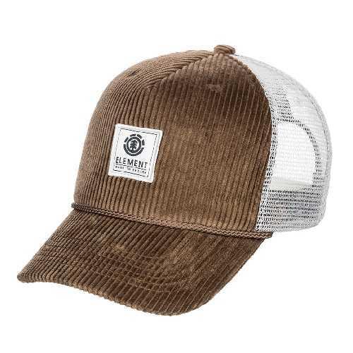 ELEMENT BARK TRUCKER CAP teak