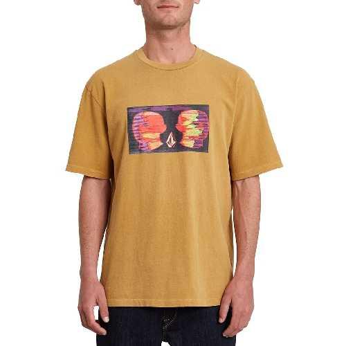 VOLCOM ANIMOSCILLATOR SS TEE mustard gold