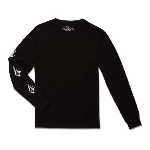 VOLCOM ICONIC STONE BSC LS TEE YOUTH black