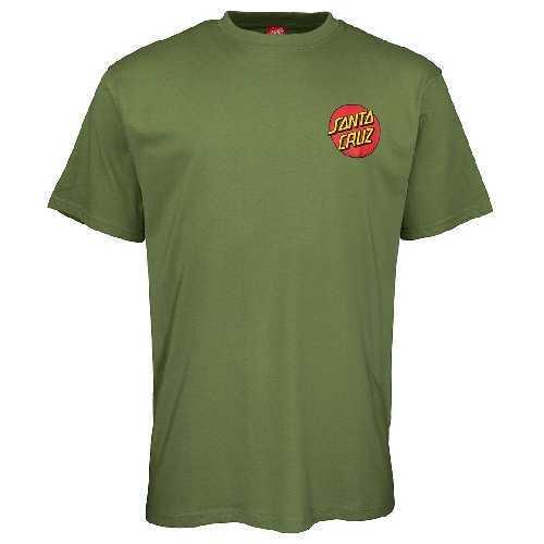 SANTA CRUZ CLASSIC DOT CHEST TEE Dill Green