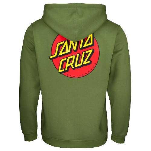SANTA CRUZ CLASSIC DOT ZIP HOOD Dill Green