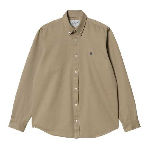 CARHARTT WIP LS MADISON SHIRT Leather / Dark Navy