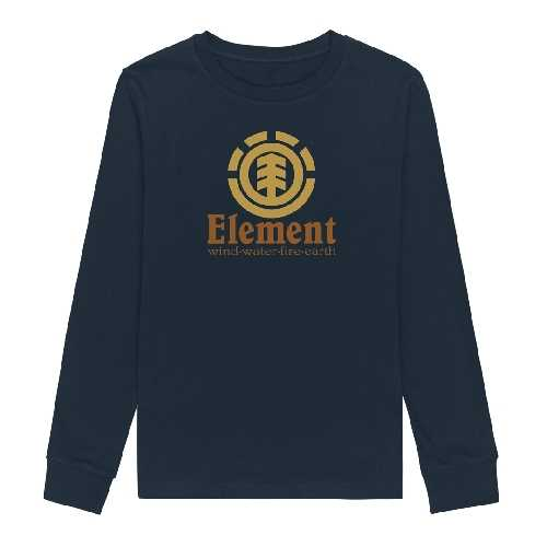 ELEMENT VERTICAL LS TEE YOUTH eclipse navy