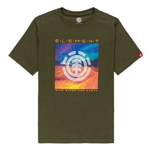 ELEMENT DUSKY SS TEE YOUTH army