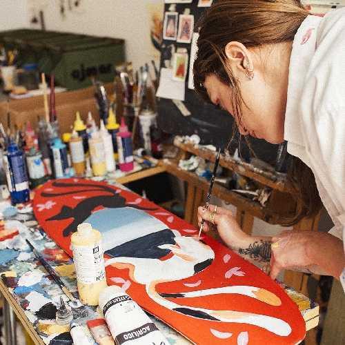 YOW SURF MERCEDES BELLIDO ARTIST SERIES SURFSKATE 34 pouces