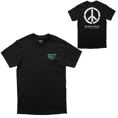 BROTHER MERLE PEACE AND TP TEE black