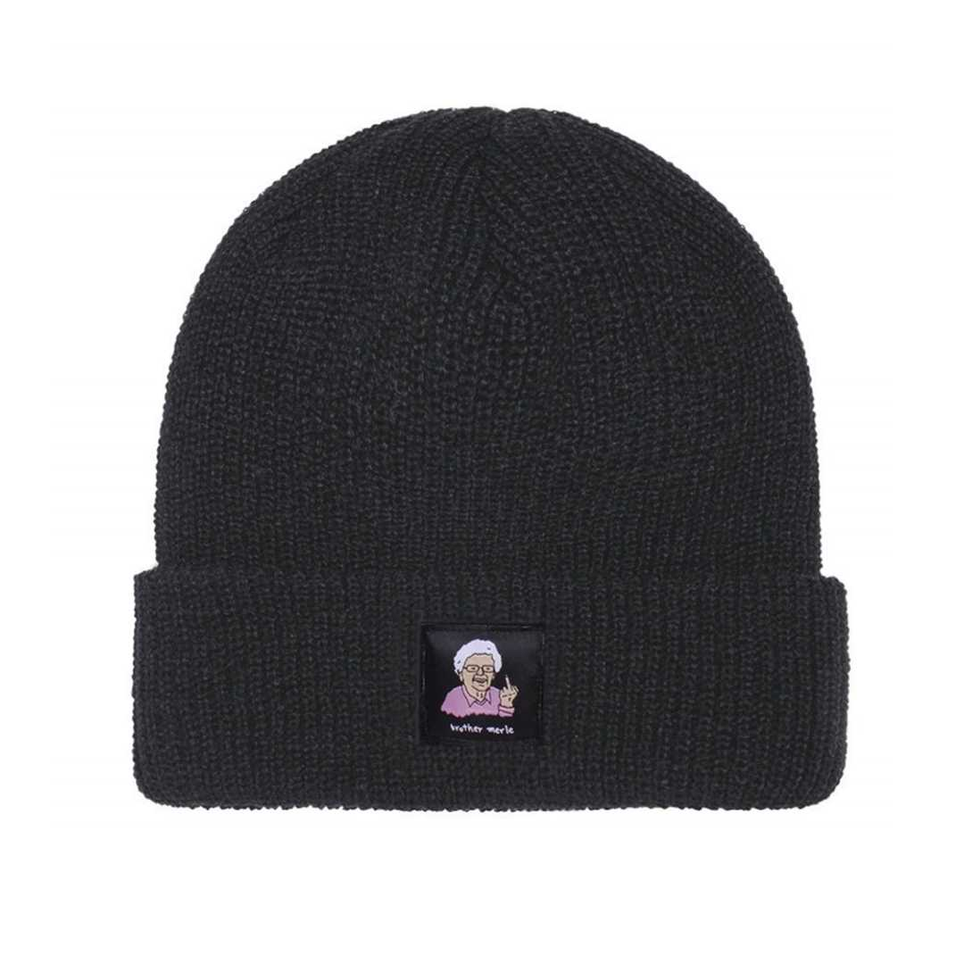 BROTHER MERLE BETTY RIBBED BEANIE black