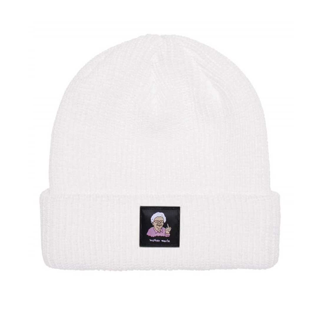 BROTHER MERLE BETTY RIBBED BEANIE white