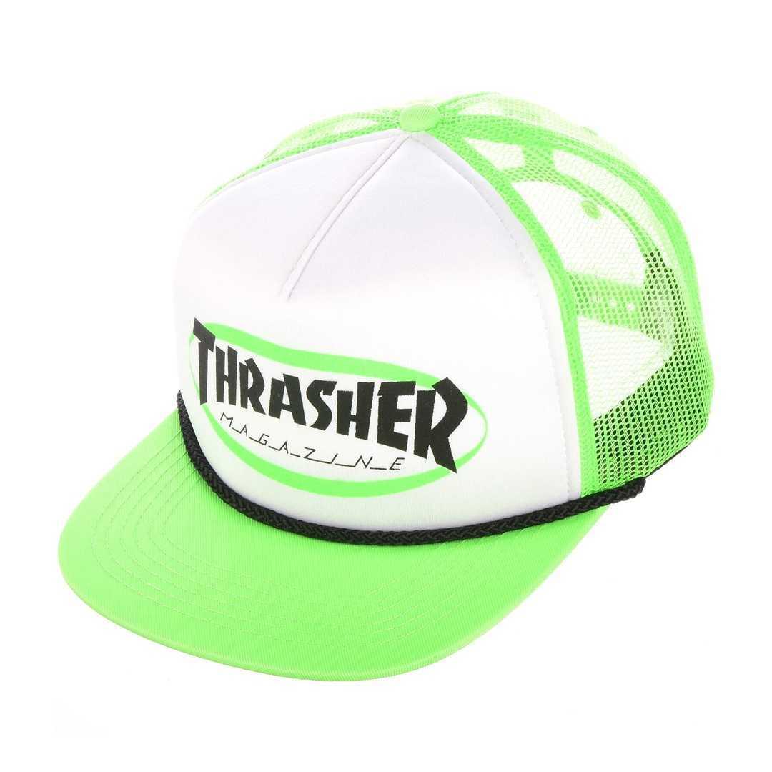 THRASHER ELLIPSE MAG LOGO TRUCKER ROPE CAP green